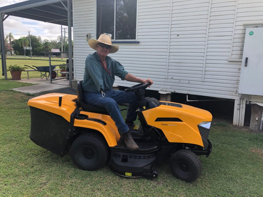 A blower and mower lifts community spirits