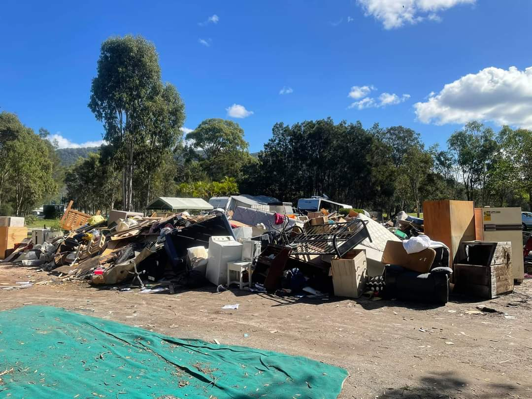Post flood clean up in Port Macquarie