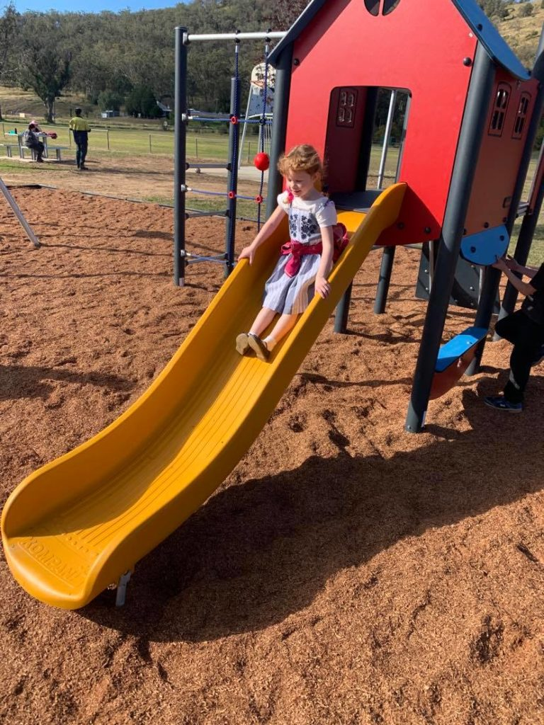 """Thankyou for building a park in Woolomin for us kids."""